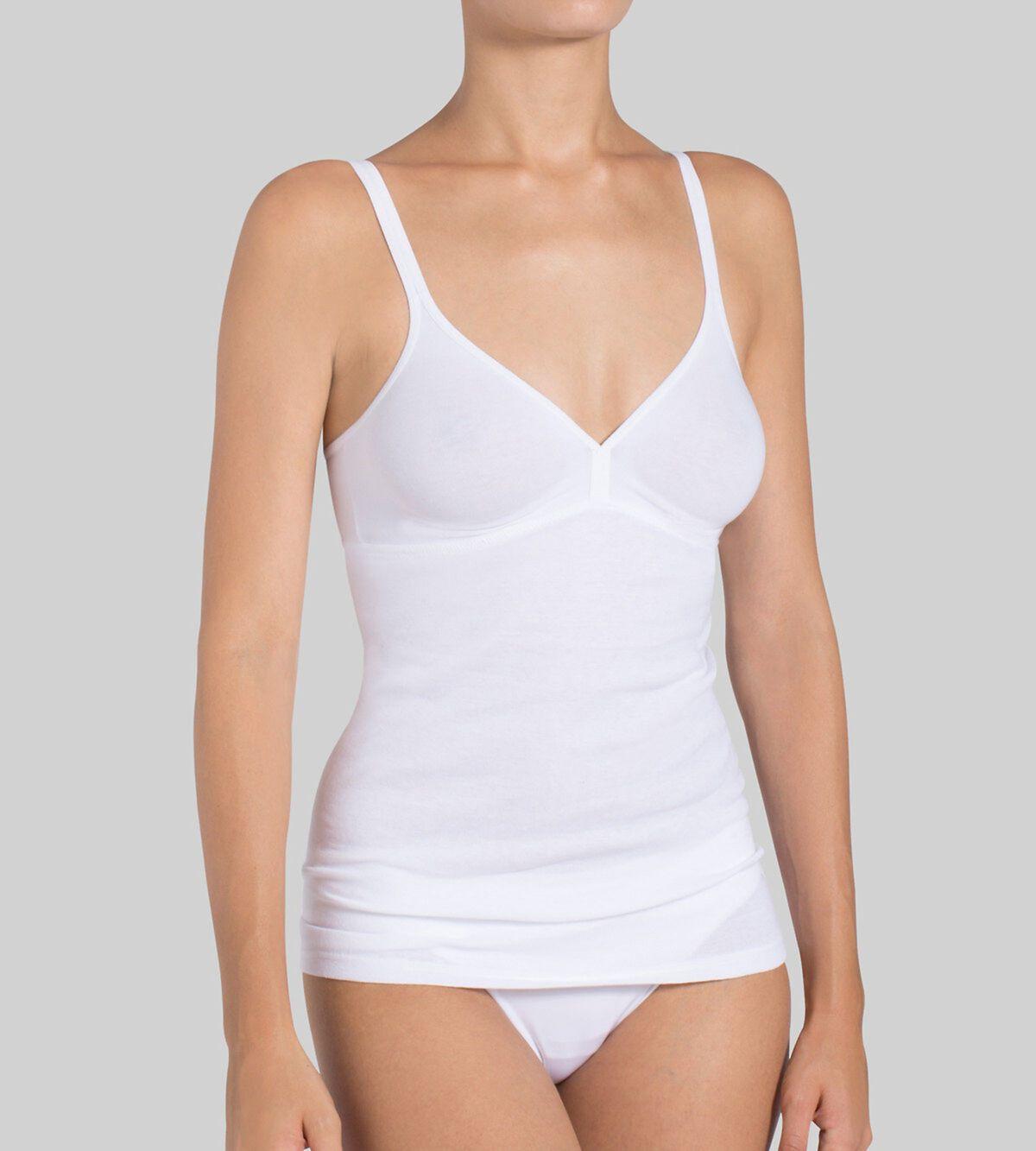Maillot de Corps Femme Pieces Plain Underwear Top Noos